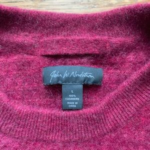 John W. Nordstrom Sweaters - Burgundy Red Cashmere Crew Neck Sweater
